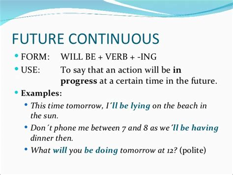 pattern of future perfect continuous tense future perfect and future continuous