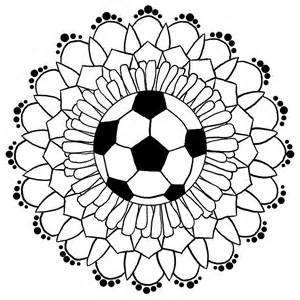 Printable Greeting Cards Quot Soccer Mandala Quot By Schnellbee Redbubble