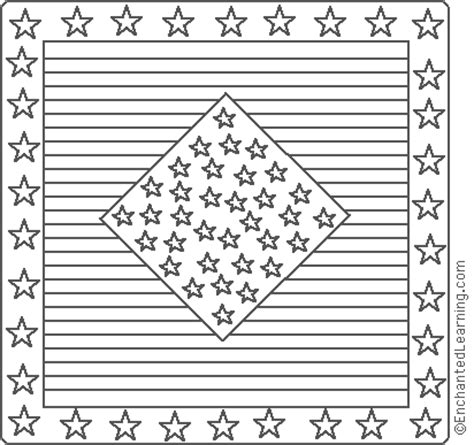 american quilt stars and stripes coloring page
