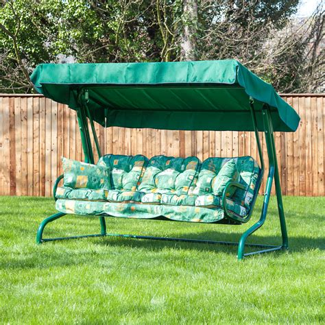 replacement garden swing cushions alfresia luxury garden swing seat cushions 3 seater ebay