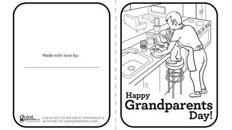 grandparents card template religious grandparents day printable coloring cards