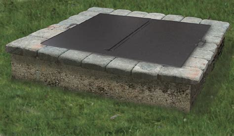 square firepit cover square or folding pit snuffer cover