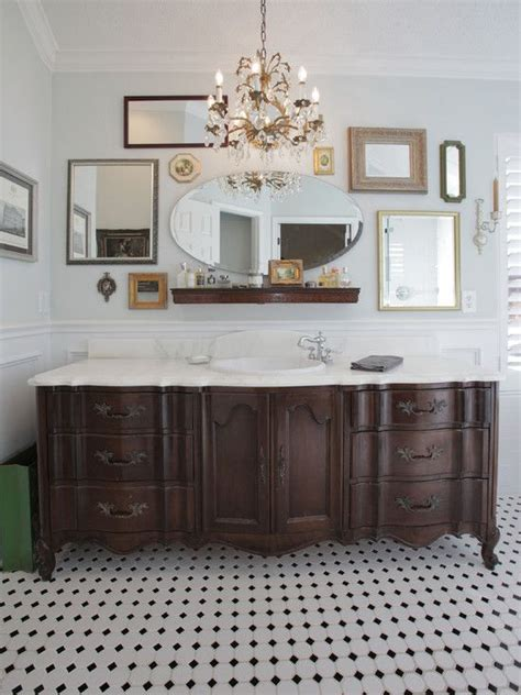29 Vintage And Shabby Chic Vanities For Your Bathroom Dresser Turned Bathroom Vanity