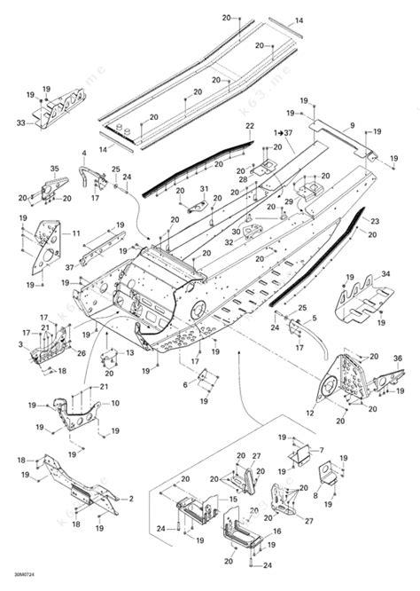 skidoo parts diagram ski doo 2007 mx z xrs 600 ho sdi frame parts catalog