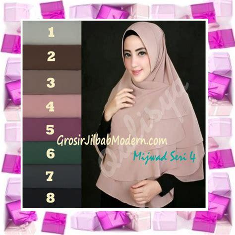 Harga Jilbab Syar I Qalisya Jilbab Khimar Syar I Mijwad Polos Seri 4 Original By
