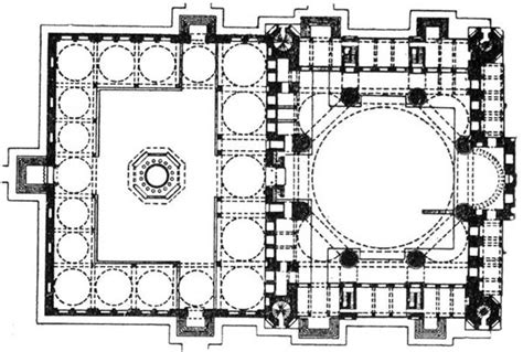 blue mosque floor plan islamic architecture clio s calendar daily musings on
