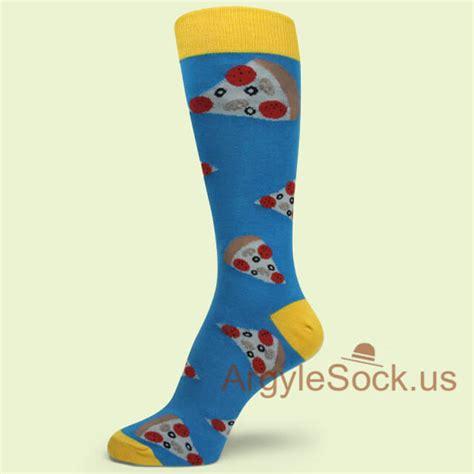 pizza pattern socks dark coral dark green geometric pattern mens dress socks