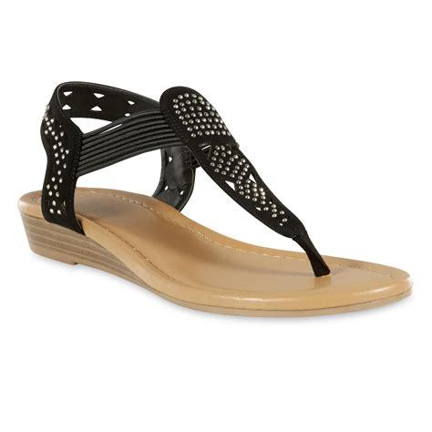 kmart sandals attention s melanie sandal black