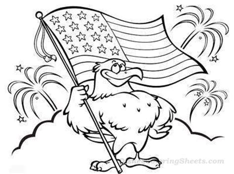 american flag and eagle fourth of july coloring page for 4th of july coloring pages and activities coloring pages