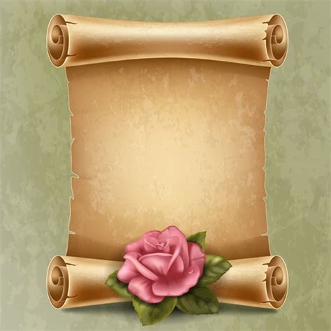 How To Make Scroll Paper - creative scroll paper background vector set free vector in