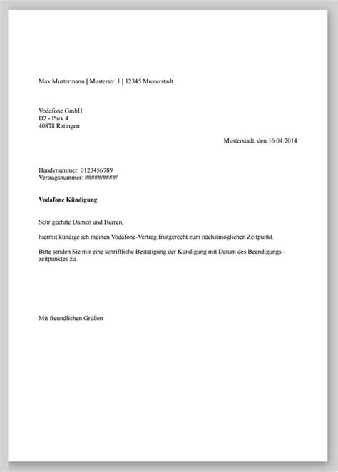 Muster K Ndigung Wohnung Bei Tod M 246 Chte Mein Vodafone Vertrag K 252 Ndigen Was Muss Ins K 252 Ndigungsschreiben K 252 Ndigung