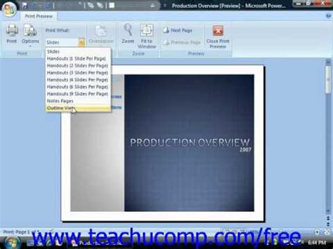 tutorial powerpoint 2007 youtube powerpoint 2007 tutorial using print preview 2007 only