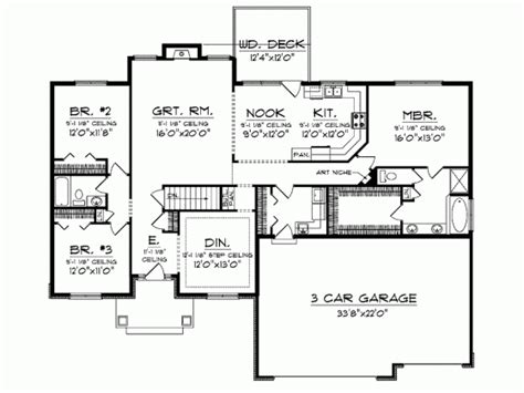 2300 square foot house plans ranch 2300 sq ft house plans pinterest rambler
