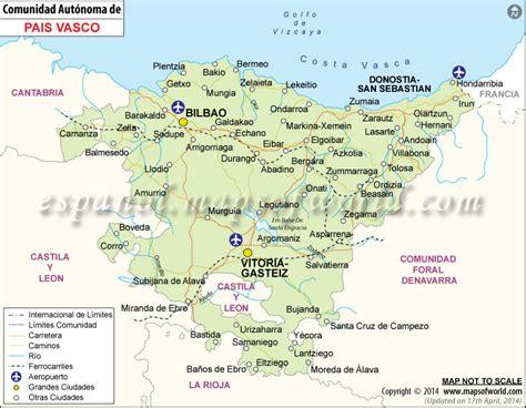 capital pais vasco mapa pais vasco mapa de pais vasco espa 241 a