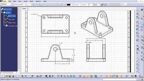 pattern a sketch catia accurately communicate your designs with catia drawings