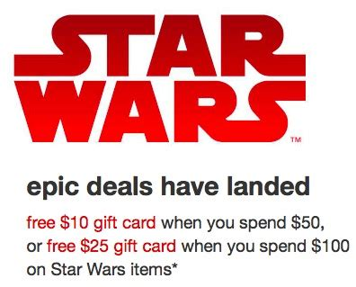 Target 10 Gift Card When You Spend 50 - target com get a 10 gift card when you spend 50 on star wars items money saving mom 174