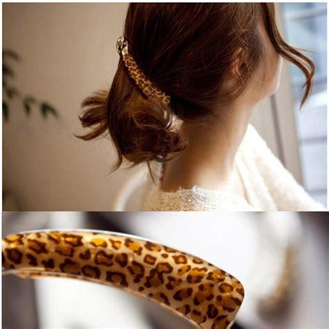 Leopard Hair Clip banana hair europe fashion leopard hair claws