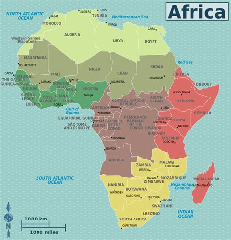 The Map Of Africa by Capital Capitals Africa I Material World