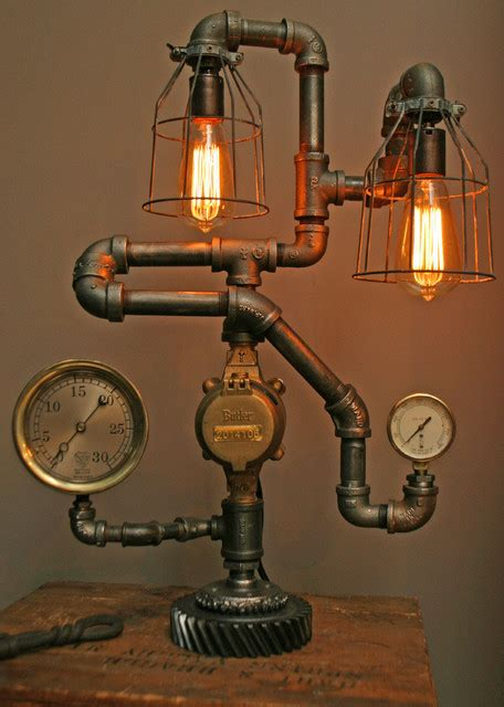 Industrial Kitchen Faucet by 32 Totally Cool Steampunk Light Fixtures