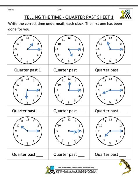 clock worksheets year 2 clock worksheet quarter past and quarter to