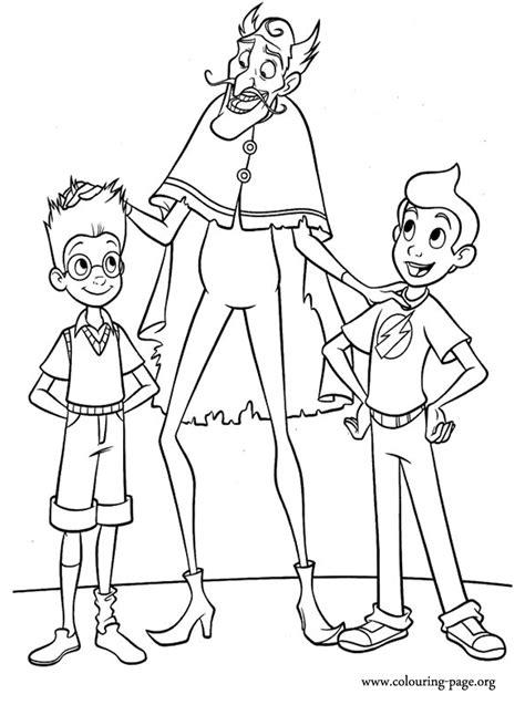 Meet The Robinsons Lewis Goob And Wilbur Coloring Page Meet The Robinsons Coloring Pages