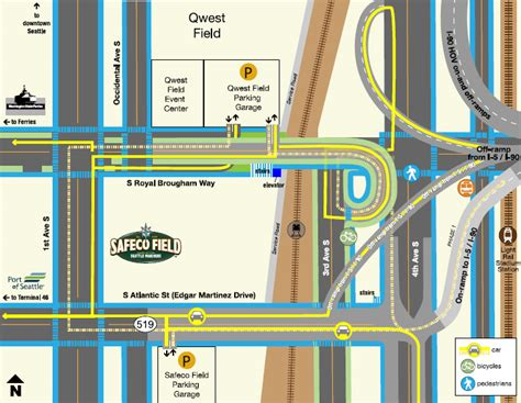 transportation area maps mariners ballpark