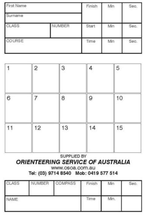 Orienteering Card Template by Orienteering Card Template 28 Images Orienteering
