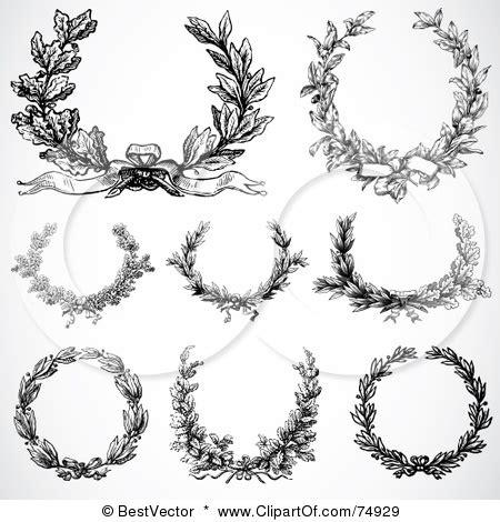 rose wreath tattoo stencil laurel wreath golfian