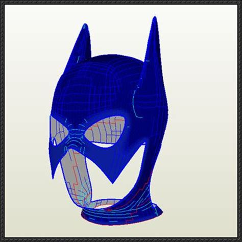 Papercraft Batman Mask - dc comics size batgirl helmet for free