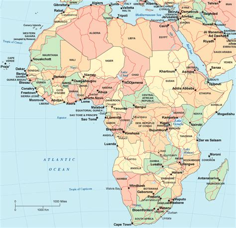 africa map with cities map of africa africa maps and geography