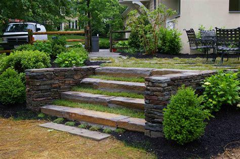 steps rock garden ideas
