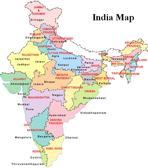 india map with country names india india map