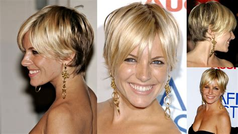 short hairstyles showing all angles sienna miller short hair pixies pinterest