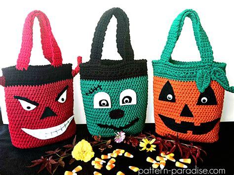 crochet pattern halloween bag free crochet pattern halloween bags pattern paradise