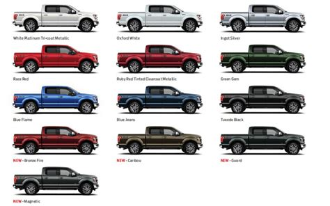 sneak peek ruby oxford white or blue a look at the new 2015 ford f 150 color