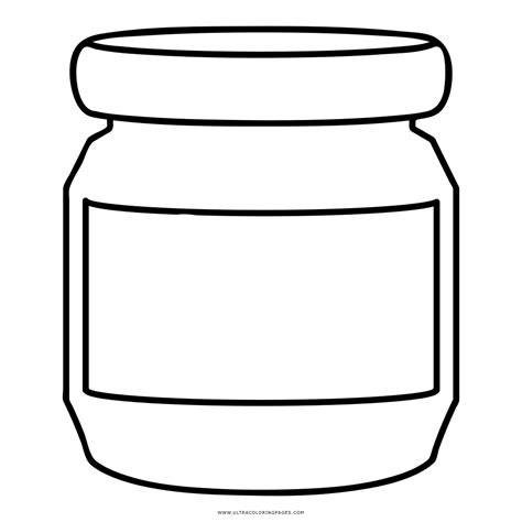 coloring page jar glass jar coloring pages coloring page empty jar