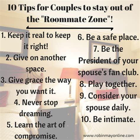 10 Tips On Being A Better Spouse by You And Your Spouse Fallen Into The Roommate Zone