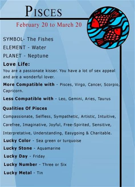 pisces colors pisces numbers and pisces zodiac on
