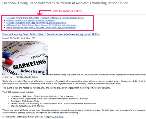 anchor link html how to add anchor links in email tutorial mailup blog