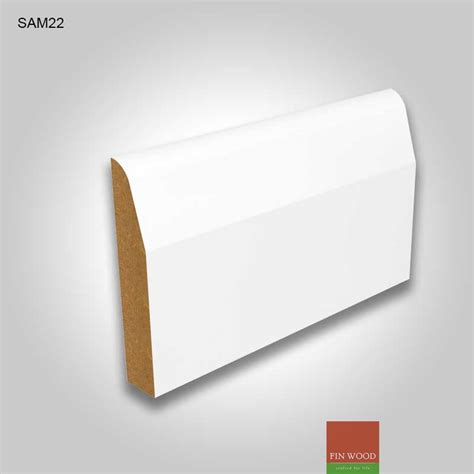 Wooden Mouldings Decorative Items Mdf Chamfered Skirting Boards White Pre Primed
