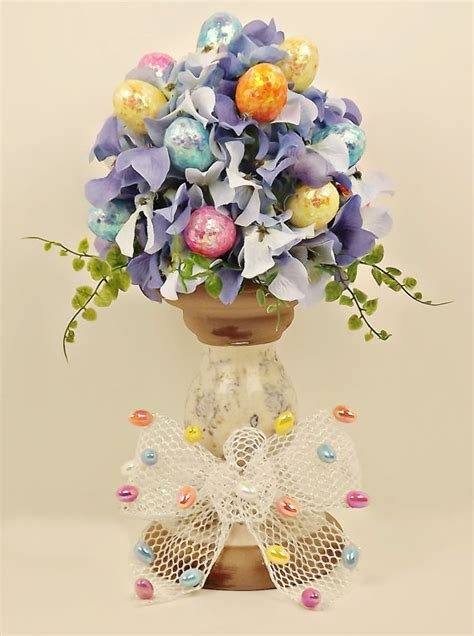 Topiary Flower 2 floral easter egg topiary by julieshomecreations on etsy 29 00 temps de ressort