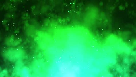 and green light green light beams and particles loopable background stock