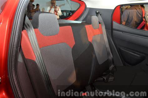 renault kwid interior seat renault kwid rear seat india unveiling indian autos blog