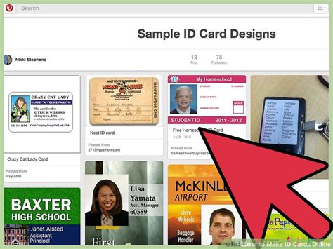 how to make an id card how to make id cards 12 steps with pictures