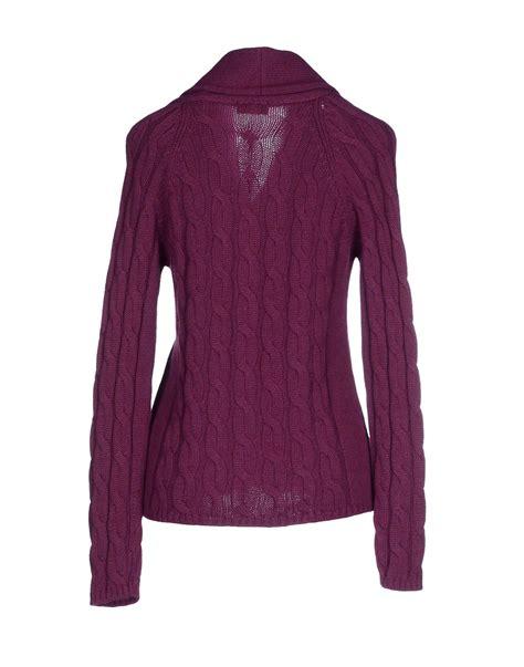 Purple Cardigan cruciani cardigan in purple purple lyst