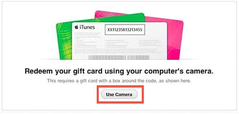 Itunes Use Gift Card Instead Of Credit Card - redeem app store itunes gift cards using a computer camera