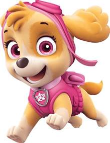 skye happy paw patrol clipart png