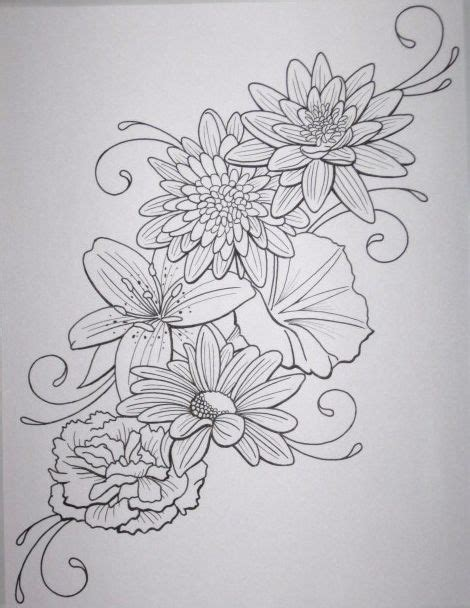 shade work no outline tattoo best 25 flower designs ideas on