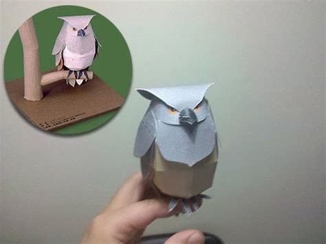 Owl Papercraft - 17 best images about paper on 3d paper crafts