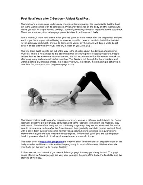 yoga exercises after c section delivery post natal yoga after c section a must read post